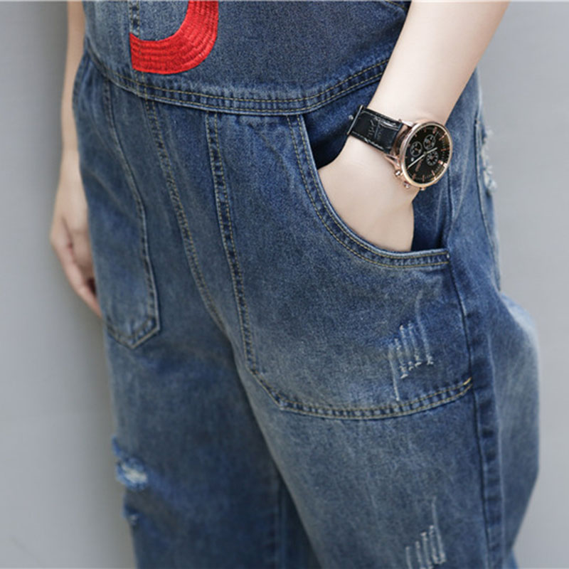 Womens Spring Autumn New Denim Overalls Black and Blue Jumpsuits  Casual S-2XL Jumpsuits Pencil Pant Jeans Romper Female NO856