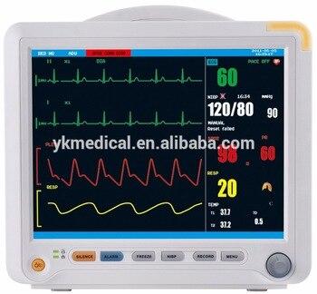 GPYOJA CE 12.1 Inch TFT LCD Dispaly Multi-Parameter Equipment Medical Patient Monitor Six Standard Parameters gpyoja 2016 hot selling multi parameter ecg nibp spo2 pr temp resp tablet patient monitor