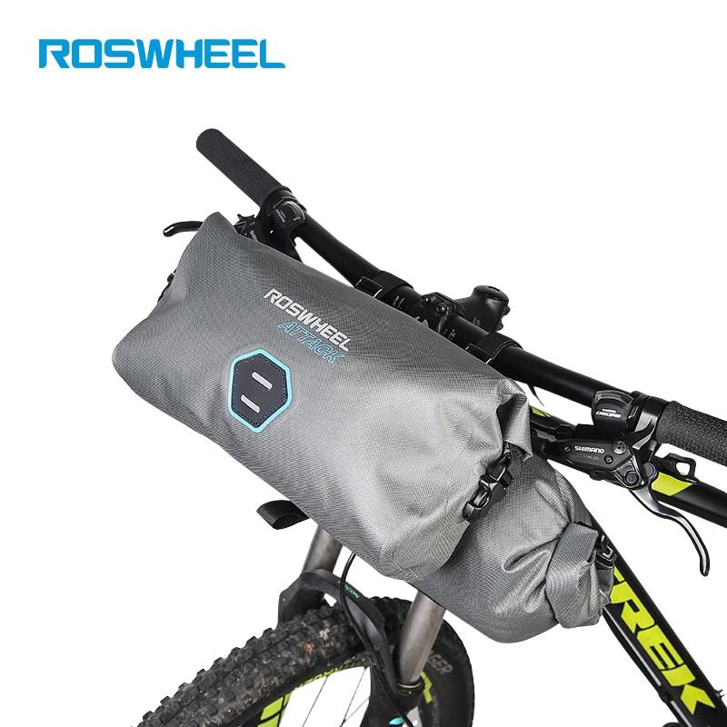 ROSWHEEL 2 teile/satz 12L Volle Wasserdichte 840D TPU MTB Rennrad Taschen Lenker Vorne Tasche Radfahren Fahrrad Zubehor For Bike пылесос volle vld 303