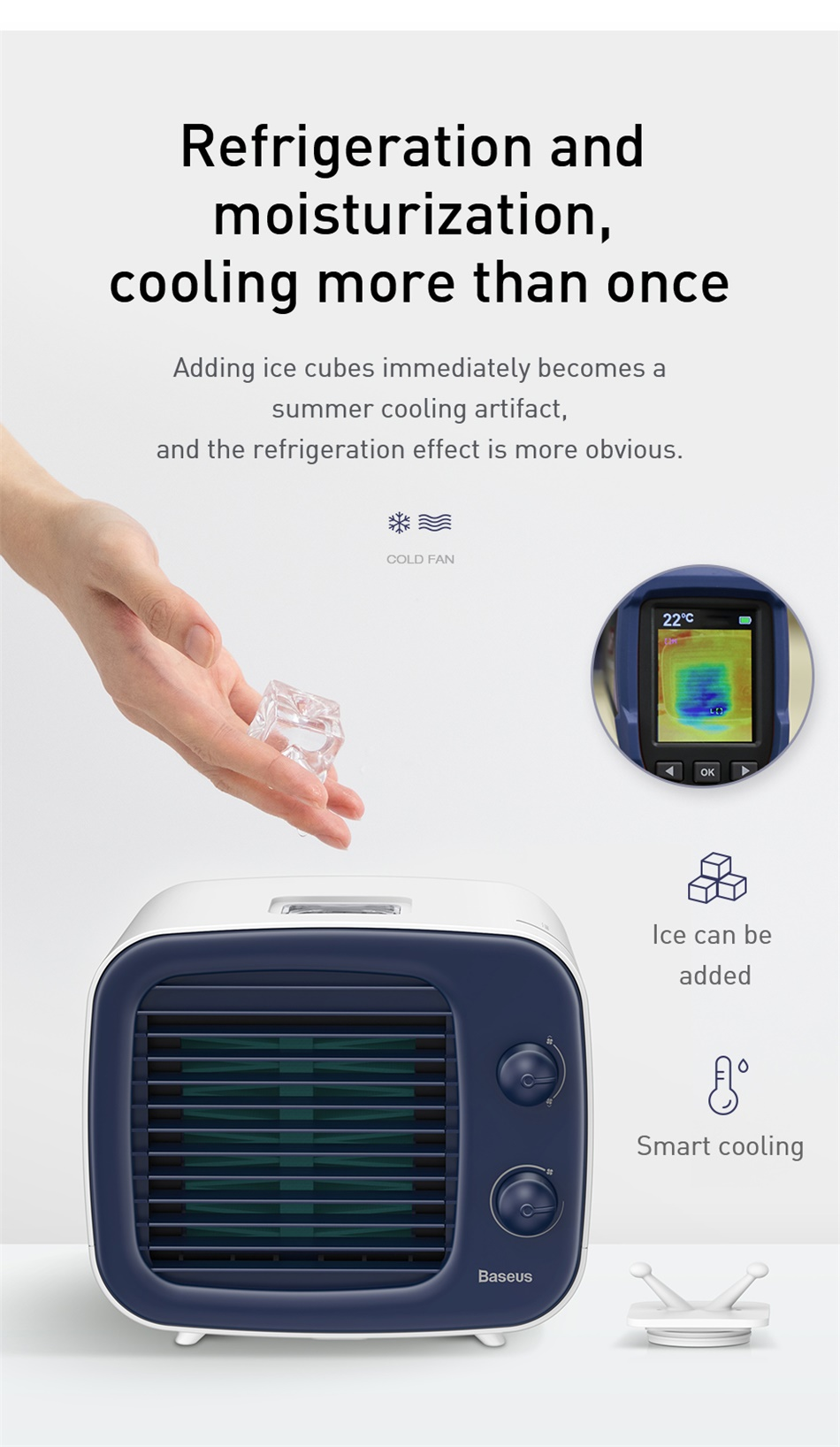 Baseus USB Mini Air-Conditioner Humidifier Purifier