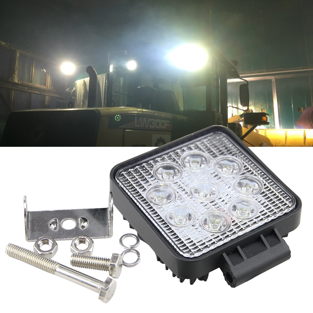 12V 27W Spot LED Car Work Light Bar Tractor Lights Truck Headlights 27W LED Car Foglight LED Off-road For SUV ATV Jeep