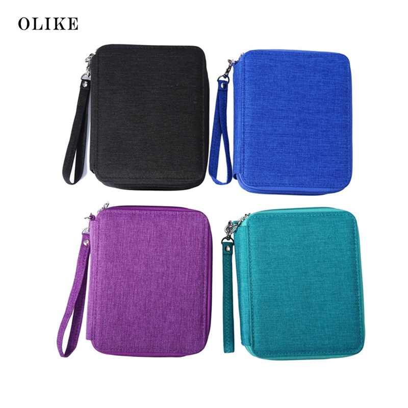 OLIKE 78 Holder Pencil Case bag Pouch  Organizer For 72 Colored Pencils Watercolor Sketch Art Students three Layer With Zipper 1pc 96grid bag pen holder paint brush holder watercolor oil acrylic painting tool pencil case stationary art easel container