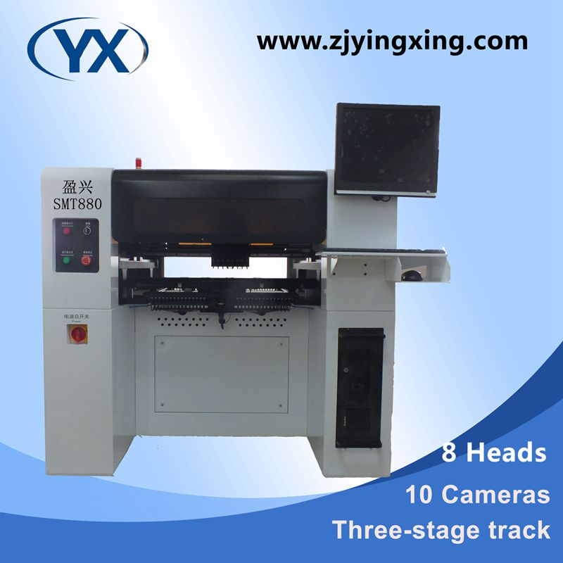 Higher Efficiency and Lower Loss Pick and Place SMT Equipment Production Line For Led Lamps /80 Feeders+8 Heads+Servo Motor