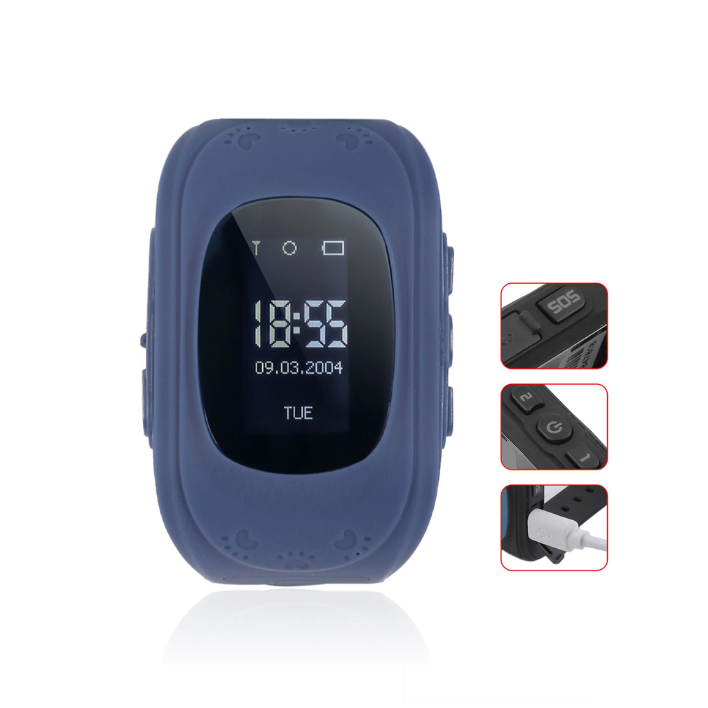 <font><b>Q50</b></font> Smart Watch <font><b>Kids</b></font> <font><b>SmartWatches</b></font> Anti-Lost Smart Wrist for Children SOS Call Location Finder Locato Tracker Without GPS image