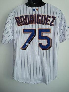 new product 728dd 676cc US $43.42 |48 to 56 Brand New Jerseys Francisco Rodriguez Number 75 New  York Mets Pinstripe Sewn Jerseys Size-in Baseball Jerseys from Sports & ...