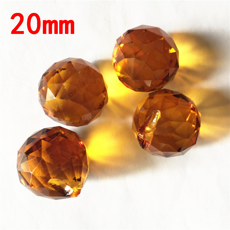 Best Quality 195pcs 20mm Balls Crystal Chandelier Parts Lamp Pendant Crystals Prism For Wedding Dining Room