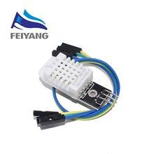10 sztuk DHT22 cyfrowy czujnik temperatury i wilgotności AM2302 moduł + PCB z kablem