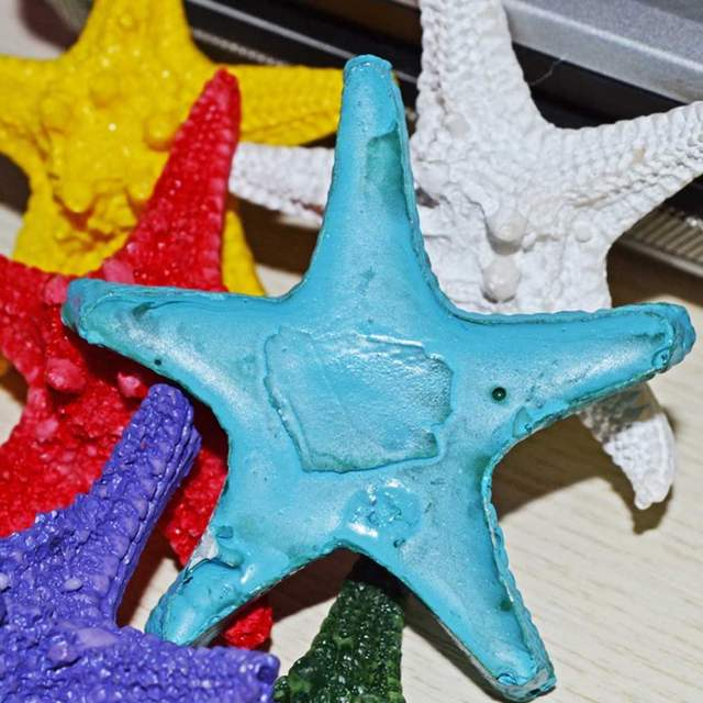 1 Pcs High Quality Beach Mixed Color Overlord Steamed Starfish Star Fish  Craft Table Decor Aquarium