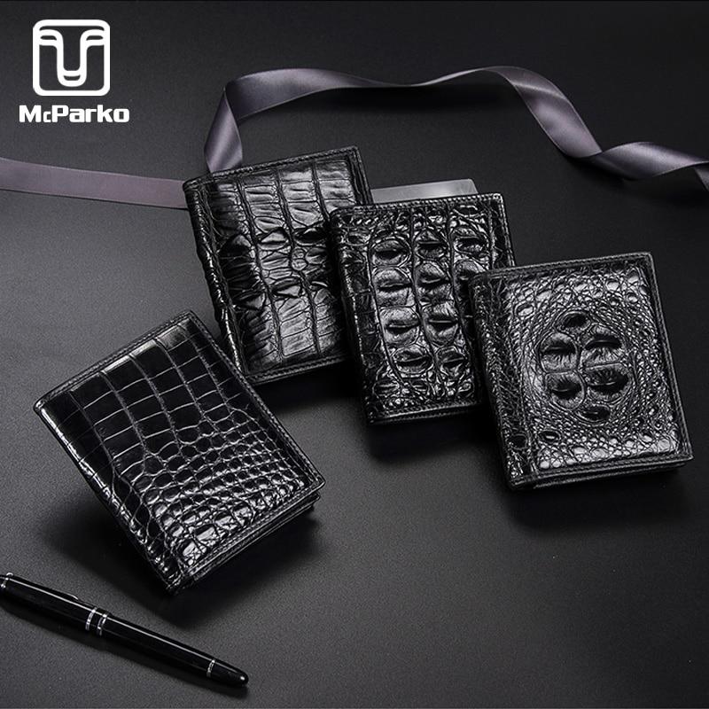 McParko Luxury Wallet Genuine Crocodile Leather Wallets Men Fashion Brand Small Wallet Elegant Alligator Skin Male