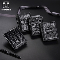 McParko Luxury Wallet Genuine Crocodile Leather Wallets Men Fashion Brand Small Wallet Elegant Alligator Skin Male Purse Short