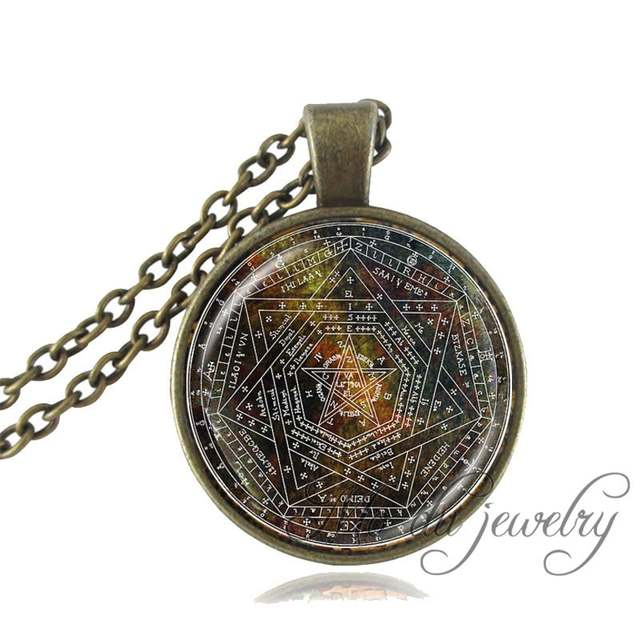 Placeholder Mayan Calendar Pendant Jewelry Aztec Necklace Antique Bronze Chain Astronomy