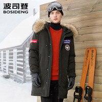 BOSIDENG NEW harsh deep winter thick down jacket men long GOOSE down coat big natural fur collar high quality B70142017