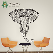 High Quality Elephant Ganesha Tattoo Om Mandala Wall Decal Sticker Art Home Decor Vinyl Mural Yoga Meditation Poster NY-84