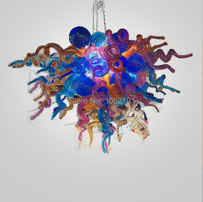 Free Air Shipping AC LED Excellent Quality Murano Glass Art Decor Chandelier Lamp Shades