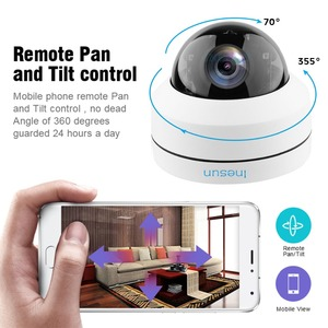 Image 3 - Inesun 야외 보안 카메라 2MP 5MP PoE IP 돔 카메라 팬/틸트 4 배 광학 줌 PTZ 카메라 모션 감지 방수