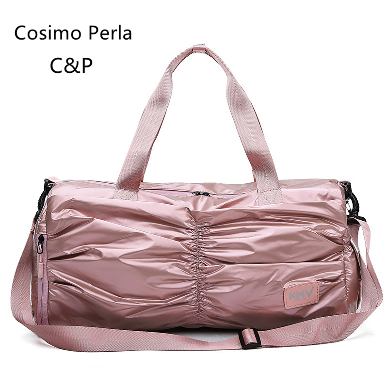 Pink Waterproof Oxford Beach Fitness Bag Women Travel Sports Yoga Duffel Dry-wet Separation Swim Portable Hand Luggage Shoes