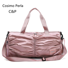 Pink Waterproof Oxford Beach Fitness Bag Women Travel Sports Yoga Duffel Dry-wet Separation Swim Portable Hand Luggage Shoes Bag