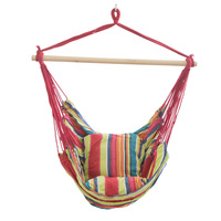 Portable Outdoor Hammocks Adults Children Indoor Cradle Chair Household Swing Dormitory Leasure Hanging Bed With Cushion