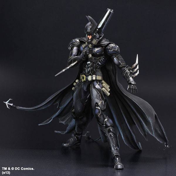 NO 1 Bat-man Figure Black Blue Edition Play Arts Kai Variant Play Art KAI PVC Action Figure Bat Man Bruce Wayne 26cm Doll Toys