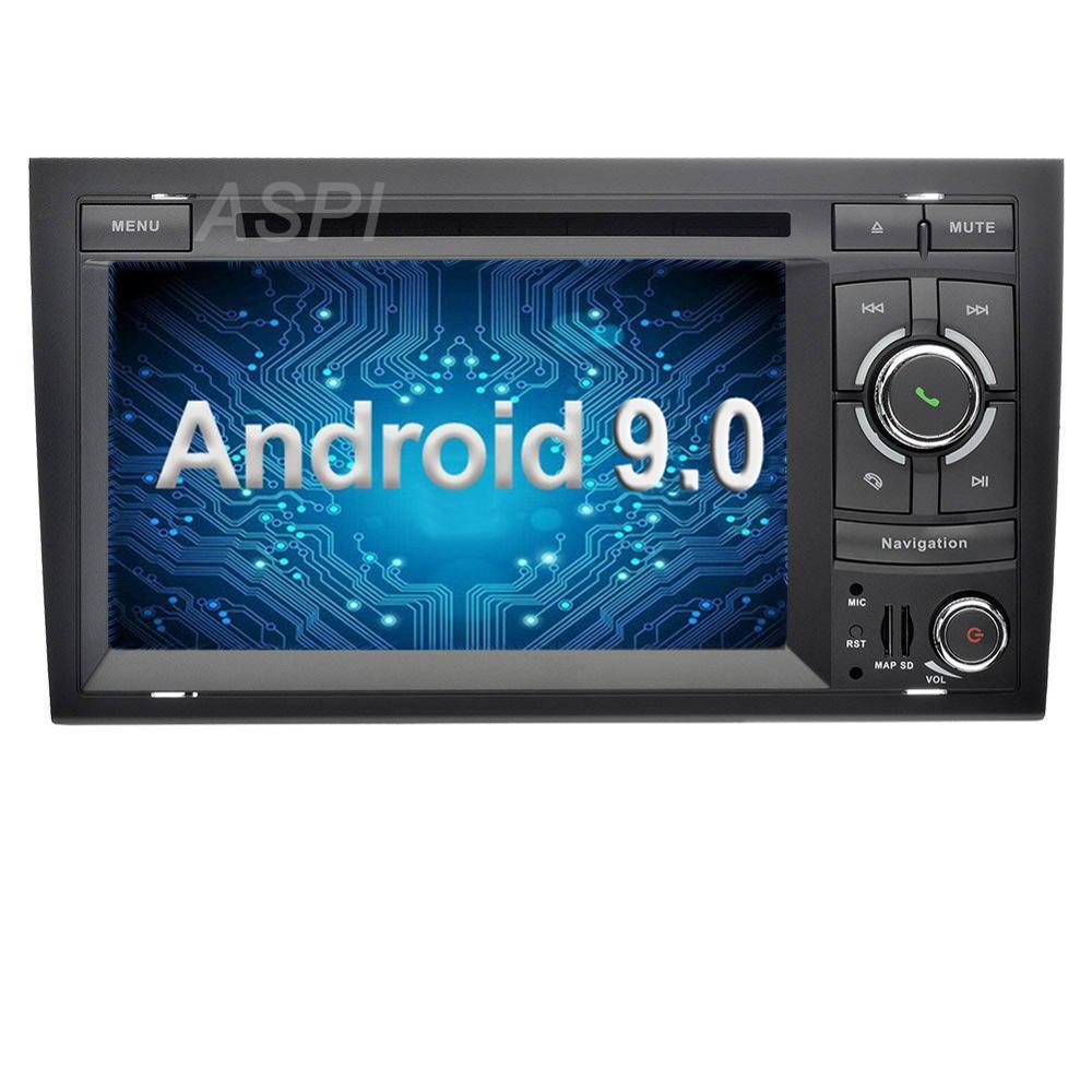 Android 9.0 dans la carte de tableau de bord stéréo pour Audi A4 S4 RS4 2002-2007,8 Core 4G + 32G GPS Navigation 7 ''IPS écran voiture lecteur multimédia
