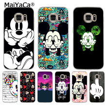MaiYaCa Coque Dos Desenhos Animados Minnie Mickey Shell Caixa Do Telefone para Samsung S9 S6 Borda Borda S5 S6 S7 S8 Plus Plus S9Plus(China)