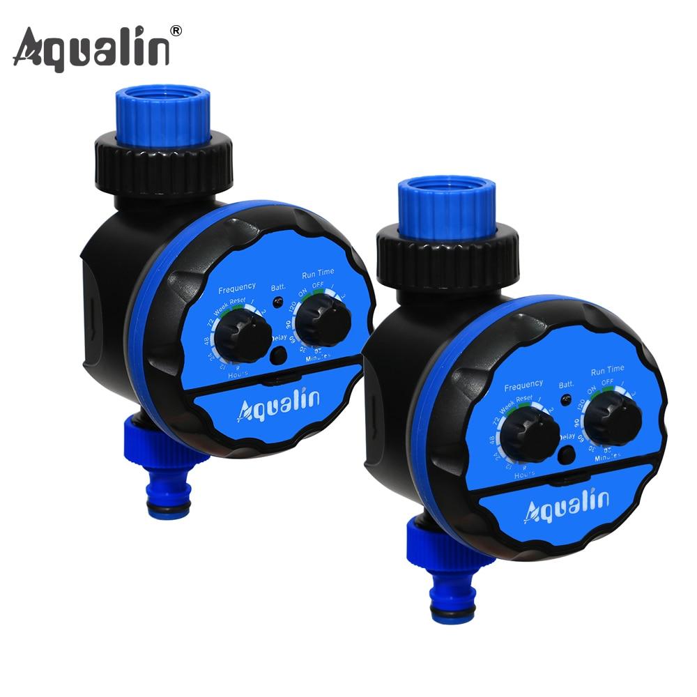 2pcs Waterproof Irrigation Garden Watering Timer Ball Valve Controller for Garden Yard with Rain Delay Function