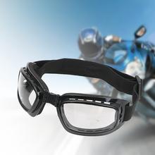 LEEPEE gogle na motocykl Anti Glare Motocross okulary narty sportowe gogle wiatroszczelna pyłoszczelna ochrona UV tanie tanio CN (pochodzenie) Jeden rozmiar Unisex MULTI Jasne Wide Screen View Elastic Headband 16228 Adjustable