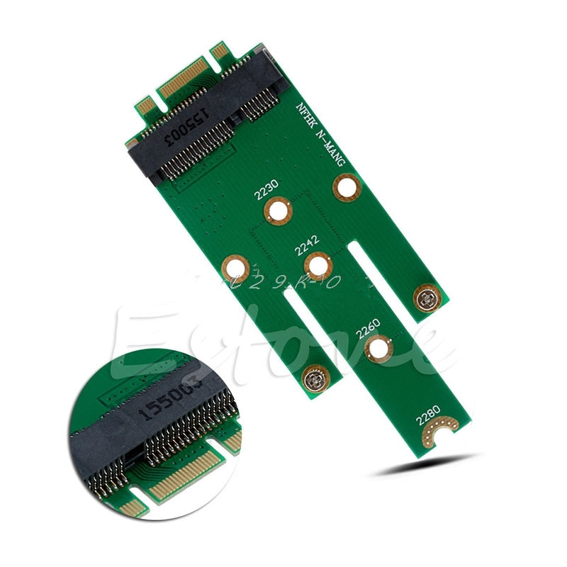 New mSATA Mini <font><b>PCI</b></font>-<font><b>E</b></font> 3.0 SSD to Next Generation Form Factor M.2 B Key <font><b>SATA</b></font> Interface Adapter <font><b>Card</b></font> image