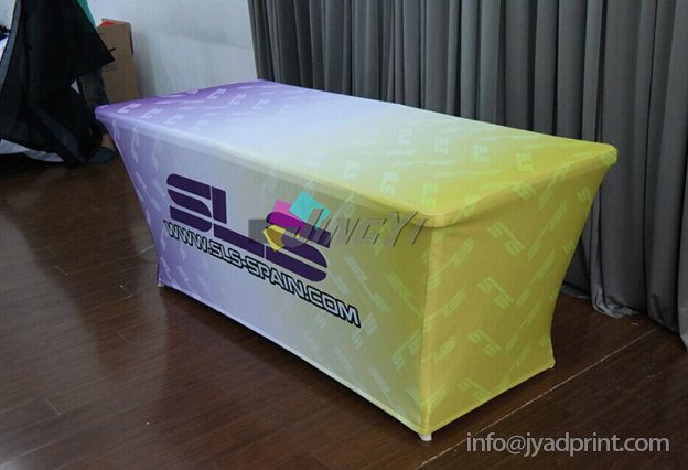 8 Stretch Fabric Trade Show Table Cover Printed Full Color Dye Sublimation Custom Print Event Clothes Free Shipping In Tablecloths From Home