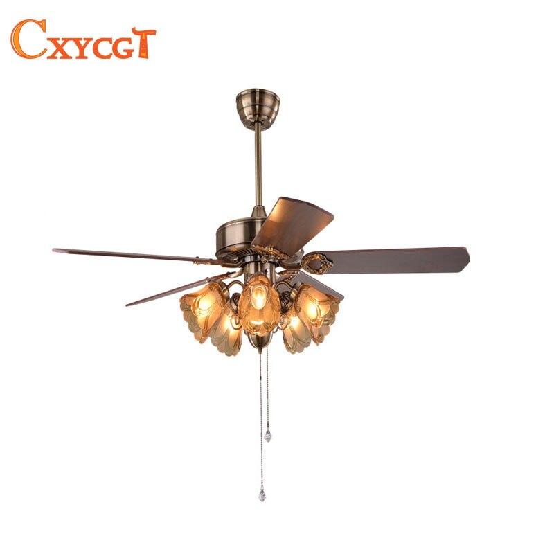 25 W 52 pouces led ventilateur plafonnier pour Salle À Manger Salon lampe ventilateur avec E27 titulaire