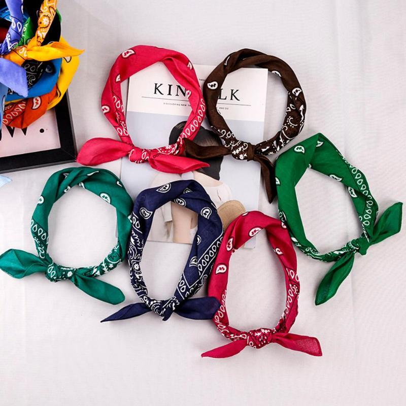 55*55cm Hip Hop Cotton Paisley Bandanas Head   Wrap   Black Red White etc 19 colors   Scarves