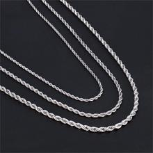 HIP Hop Width 3mm/4mm/5mm Silver Rope Chain Twisted 316L Stainless Steel Necklace Men Necklaces For Women Jewelry