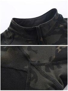 Image 5 - Mega kamuflaj askeri tişört erkekler yaz RU kurbağa askerler savaş taktik T Shirt askeri kuvvet Multicam Tee Camo kısa kollu