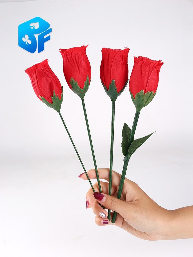 Rose une à quatre roses, split rose scène tours de magie accessoires de magie