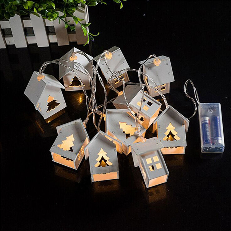 10 Bulb Christmas Lights Promotion-Shop for Promotional 10 Bulb ...:Battery Operation Wooden Christmas Tree String Lights With 10 LED House  Shape Christmas Lights For Outdoor Decorations,Lighting