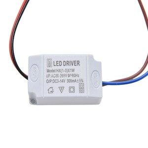 Image 4 - 1 pièces transformateur alimentation LED alimentation pilote adaptateur électronique 3X1W Simple ca 85 V 265 V à DC 2 V 12 V 300mA LED pilote de bande