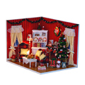 2015 Best Christmas Dollhouse Gift Kids DIY  Handmade Wooden Doll House Toy