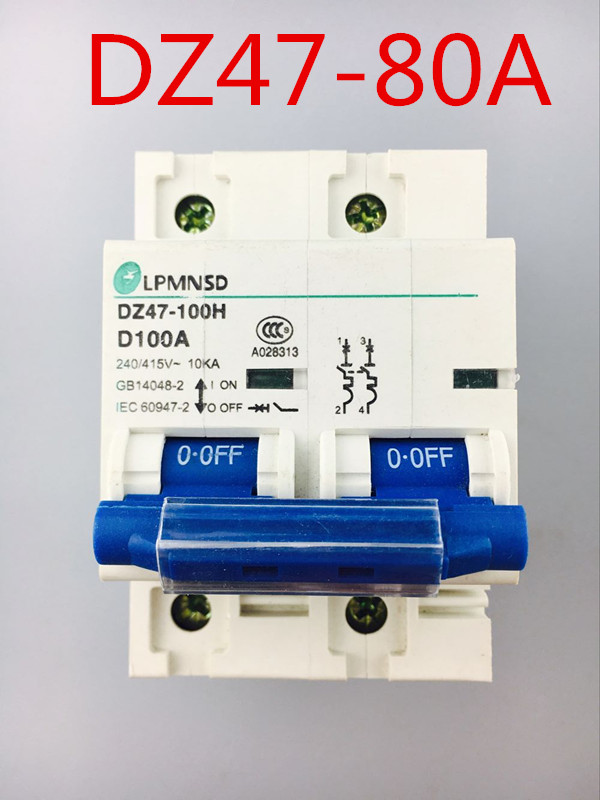 2P 80A 400V 50HZ//60HZ Circuit breaker MCB