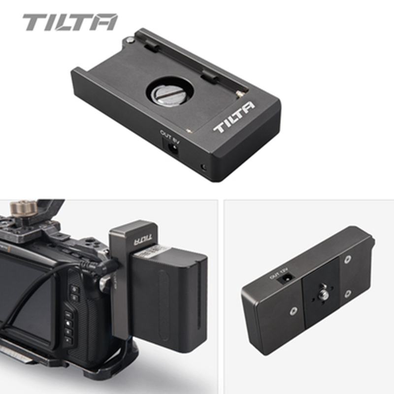 Tilta F970 Battery Plate 12V 7.4V Output Port With 1/4-20 Mounting Holes Made Of Aluminum