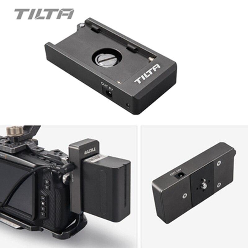 Plaque de batterie Tilta F970 Port de sortie 12V 7.4V avec trous de montage 1/4-20 en aluminium