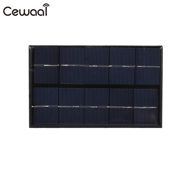 Cewaal USB Solar Panel 5W 5V Polysilicon USB Port Fast Charger Mobile Phone Portable Solar Generator 1