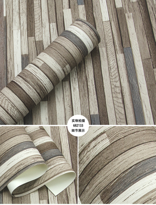 Купить с кэшбэком New Industrial Style Retro Chinese Classical Woodgrain Wallpaper 3D Stereo Hairdressing Clothing Store Bar Background Plank Wall