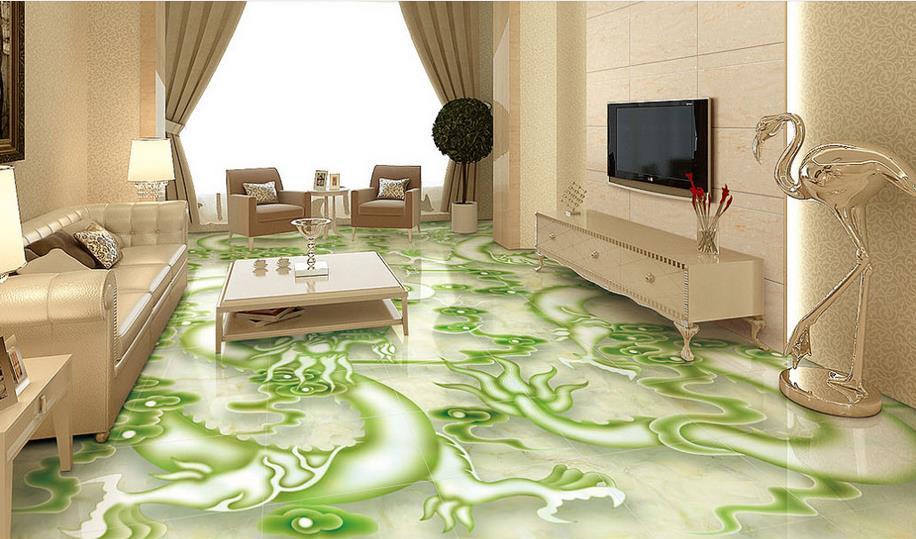 Customize Pvc Flooring Self Adhesive Wallpaper 3d Floor Tiles