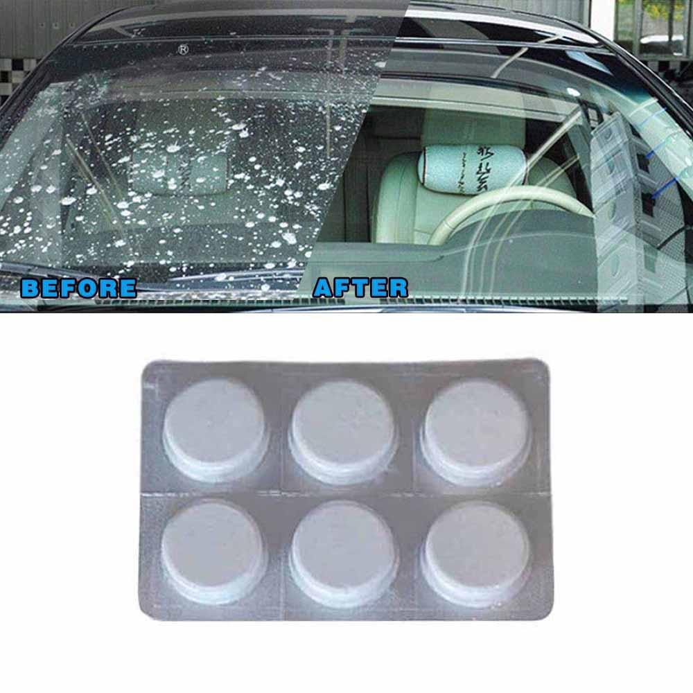 6 Stücke = 24l Auto Windschutzscheibe Glas Washer Reiniger Kompakte Brause Tabletten Waschmittel