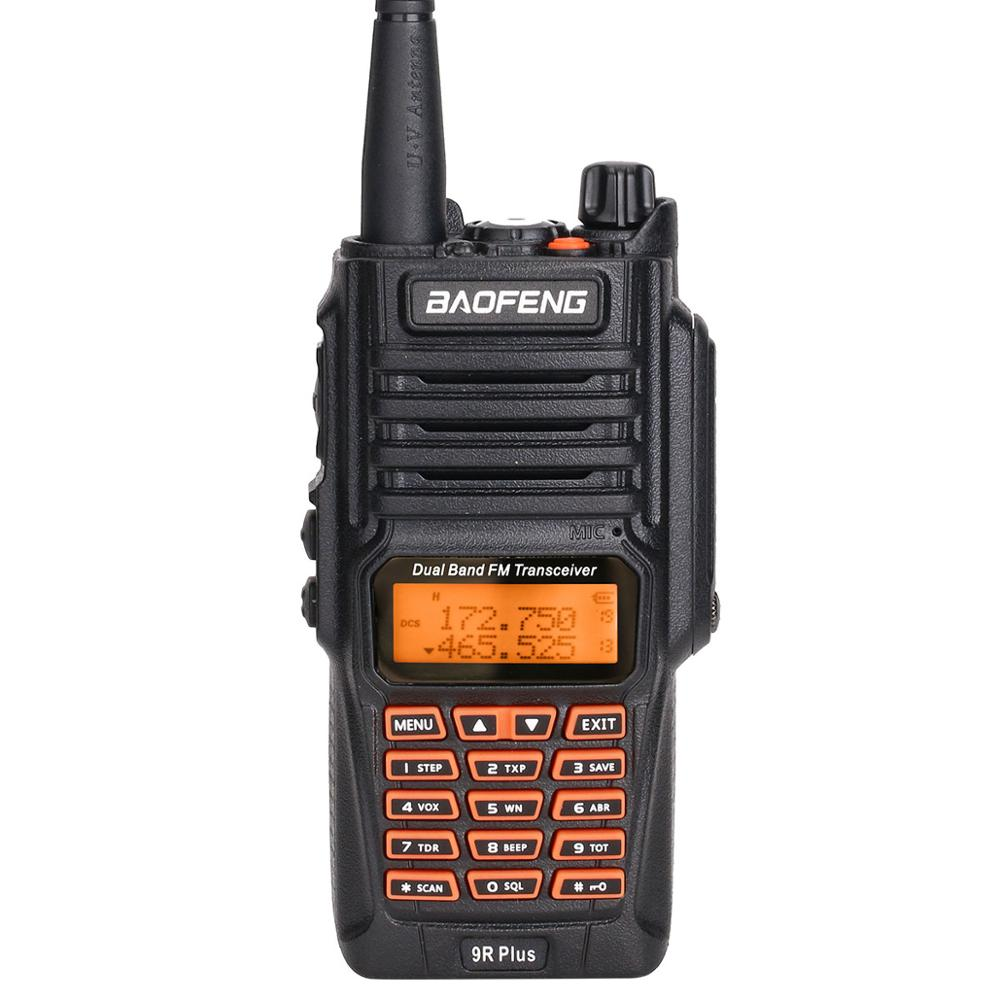 BaoFeng UV-9R Plus Водонепроницаемая портативная рация 8 Вт UHF VHF Двухдиапазонный IP67 HF трансивер UV 9R Ham портативное радио - Цвет: A radio