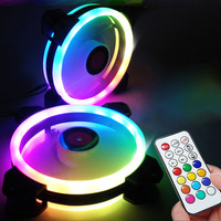 ir led Adjustable Computer Case PC Cooling Fan RGB Adjust LED 120mm Quiet + IR Remote New computer Cooler Cooling RGB Case Fan CPU (2)