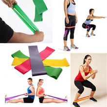 4 pcs Multi-colored Pilates Crossfit Latex Fitness Resistance bands