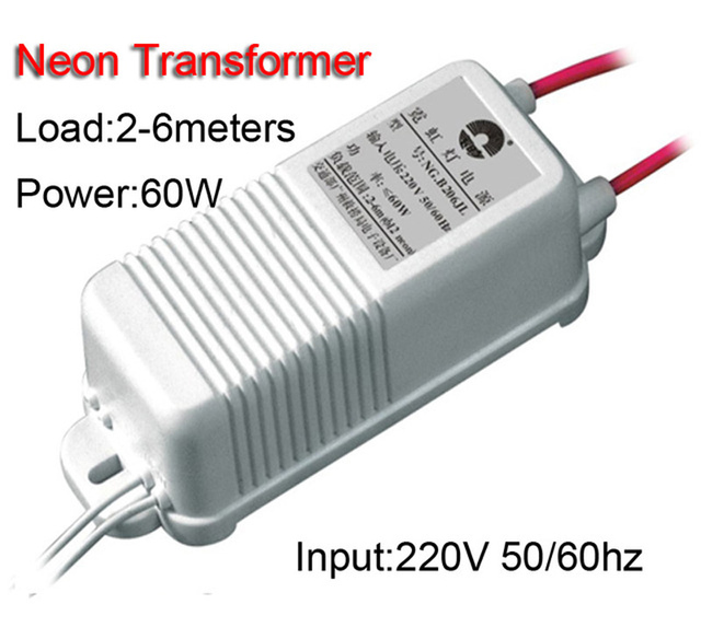 6 Meters 60W Neon Sign Transformer Power Supply Neon Light Rectifier