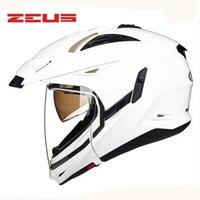 Зевс Новый модульная мотоциклетный шлем 2 линзы высококлассные Защитное Снаряжение мотоциклетный шлем легко застежка мотоцикл шлем 613b