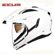 ZEUS New Modular Motorcycle helmet 2 lenses Upscale Protective Gear  motorcycle helmet easy clasp closure  motorbike helmet 613B
